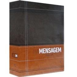 Bíblia A Mensagem (Luxo Marrom e Café com índice)