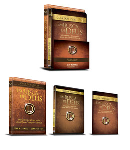 Kit Kit Em Busca de Deus - Guia de Estudo, Guia do Líder e DVD - Sean McDowell e Jennifer Dion