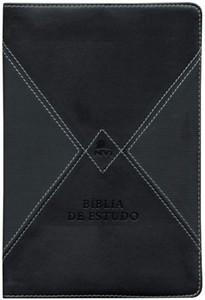 Bíblia de Estudo NVI (Preta e Cinza com índice)