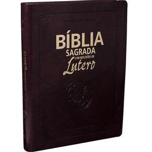 Bíblia Sagrada com Reflexões de Lutero (Vinho Nobre)