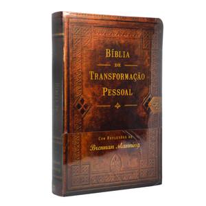 Bíblia de transformação pessoal (Marrom)