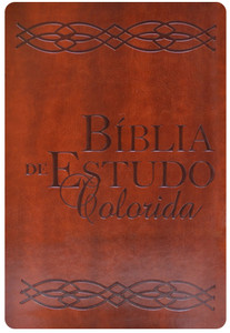 Bíblia de Estudo Colorida - Marrom