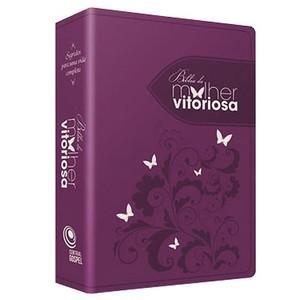 Bíblia da Mulher Vitoriosa - Vinho - Letra Gigante