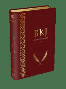 Bíblia King James 1611 (Luxo Vinho)