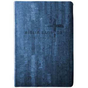 Bíblia NVI Letra Extra Gigante (Capa PU Azul)