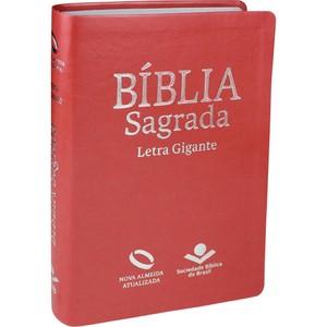 Bíblia Sagrada - NAA (Capa Luxo Pêssego) Letra Gigante