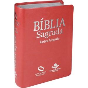 Bíblia Sagrada - NA (Pêssego Luxo) Letra Grande