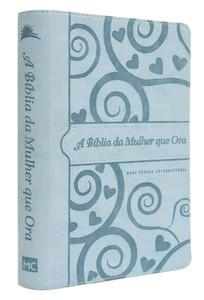 A Bíblia da Mulher que Ora - NVI (Capa Azul coração)