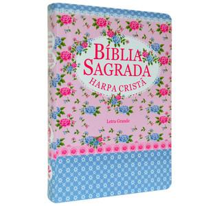 Bíblia com Harpa - Letra Grande (Florida tarja azul)