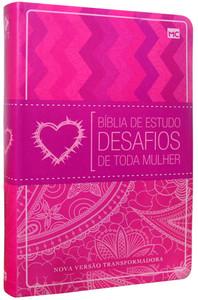 Bíblia de Estudo Desafios de Toda Mulher (Pink)