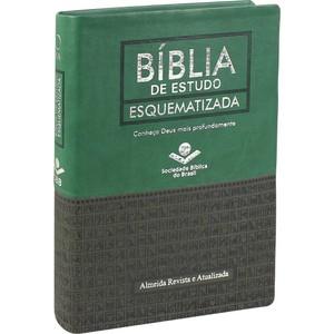 Bíblia de Estudo Esquematizada (Preta e verde)