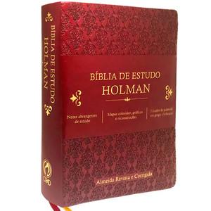 Bíblia de Estudo Holman (Vinho)