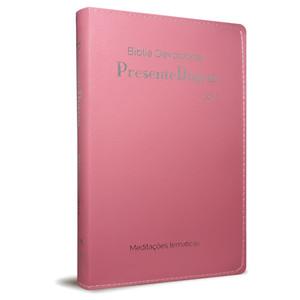 Bíblia Devocional Presente Diário (Luxo Rosa)
