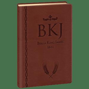 Bíblia King James 1611 - Ultra Fina Gigante (Marrom)