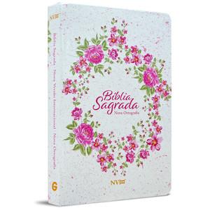 Bíblia NVI Grande (Semi-luxo Rosa Floral)