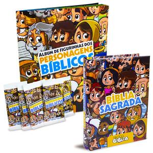 Combo Bíblia + Álbum de Figurinhas - Turma da Bíblia