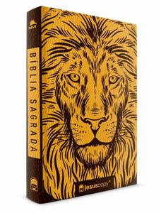 Bíblia JesusCopy - NVI (Luxo Leão)