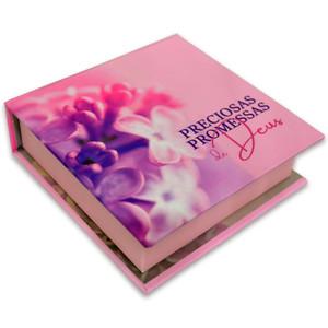 Caixinha com Preciosas Promessas (Rosa)