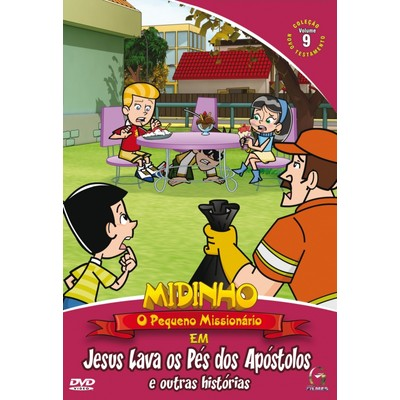 DVD Novo Testamento - Vol. 9 - Jesus Lava os Pés dos Apóstolos - Midinho