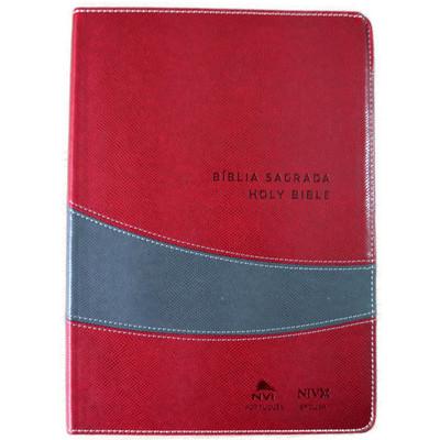 Bíblia NVI português-inglês (Vinho e Cinza)