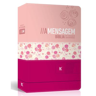 Bíblia A Mensagem (Feminina - Rosa claro e rosa escuro)