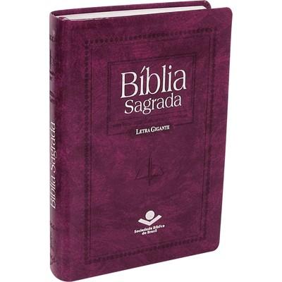 Bíblia Sagrada Revista e Corrigida com Letra Gigante (Púrpura nobre)