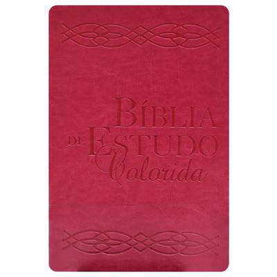 Bíblia de Estudo Colorida - Rosa