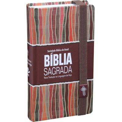 Bíblia Sagrada Carteira (Capa Marrom com Listras)