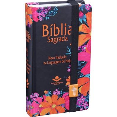 O Bíblia Sagrada Carteira (Capa Flores)