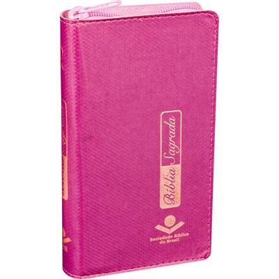 Bíblia Carteira Pink - Com Zíper