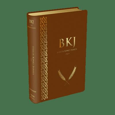 Bíblia King James 1611 (Luxo Marrom)