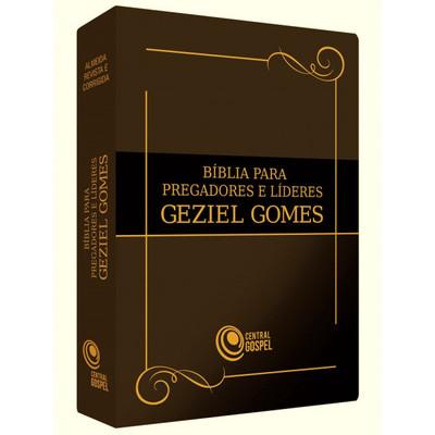 Bíblia para Pregadores e Líderes - Geziel Gomes (Marrom)