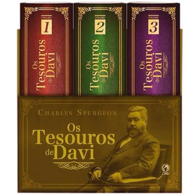 Box Os Tesouros de Davi - 3 Volumes - Charles Spurgeon
