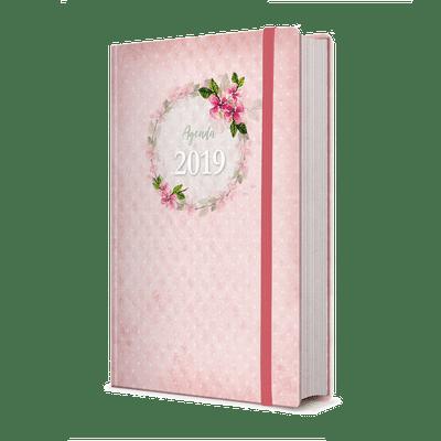 Agenda Feminina 2019 (Bolsa Rosa com Elástico)