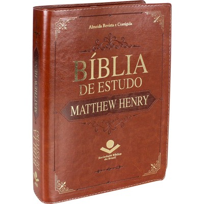 Bíblia de Estudo Matthew Henry - Luxo Marrom