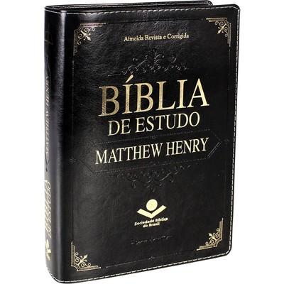 Bíblia de Estudo Matthew Henry - Luxo Preta