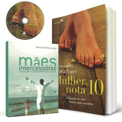 Kit - Mulher Virtuosa - 2 Livros + 1 DVD - Hernandes Dias Lopes