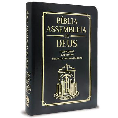 Bíblia Assembleia de Deus - Preta (Capa Igreja)