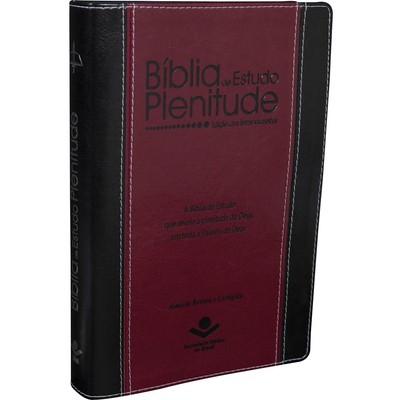 Bíblia de Estudo Plenitude (Luxo Vinho e Preta)