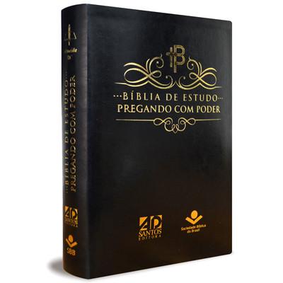 Bíblia de Estudo Pregando com Poder (Luxo Preta)