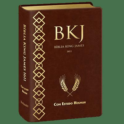Bíblia King James 1611 com Estudo Holman (Marrom)