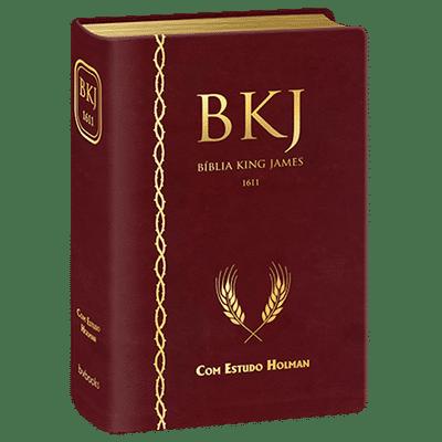 Bíblia King James 1611 com Estudo Holman (Vinho)