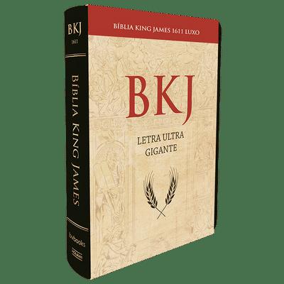 Bíblia King James 1611 Super Luxo (Letra Ultra Gigante - Preta)