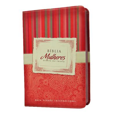 Bíblia Feminina Mulheres Diante do Trono - NVI (Vermelha)