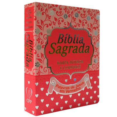 Bíblia Sagrada com Letra Media e Harpa - ARC (Rosa)