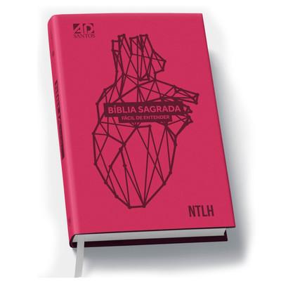 Bíblia Sagrada Fácil de Entender (Coração - Luxo )