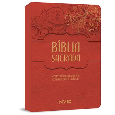 Bíblia Sagrada NVI Gigante - Capa Luxo Vermelha