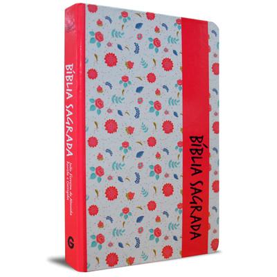 Bíblia Sagrada RC Grande (Pink Floral)