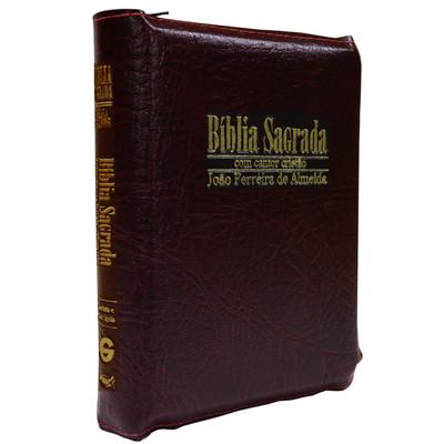 Bíblia Sagrada RC Média-Grande com Cantor Cristão (Vinho)
