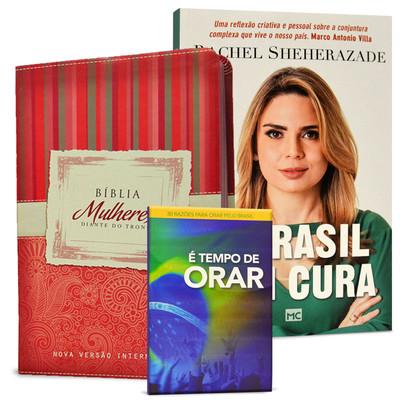 Combo Bíblia Mulheres Diante do Trono + 2 Livros - Kits